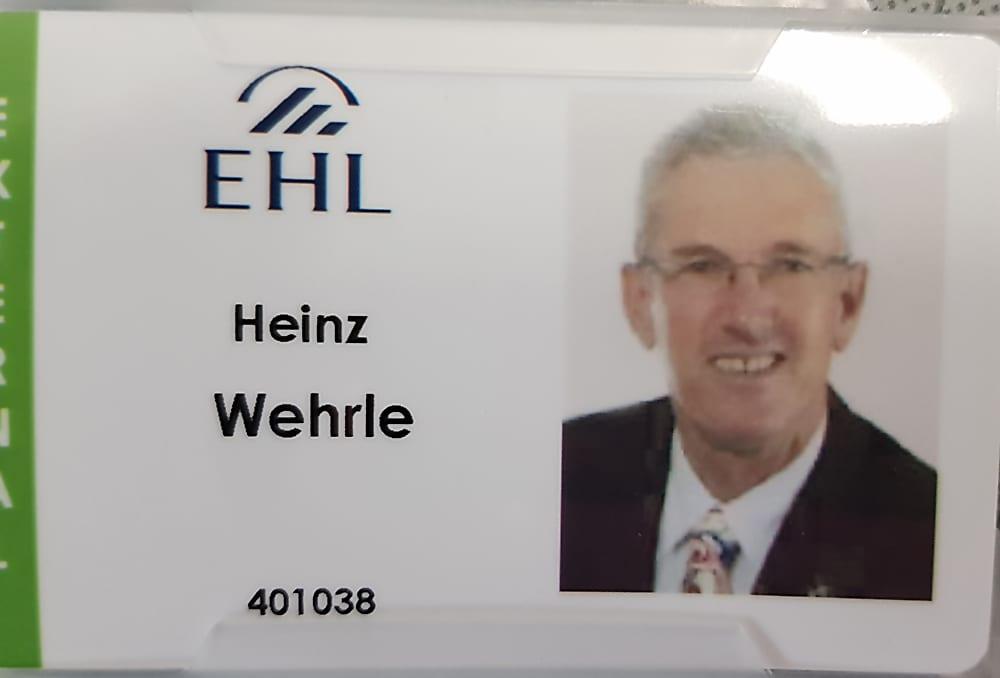 Heinz Wehrle doziert an der EHL